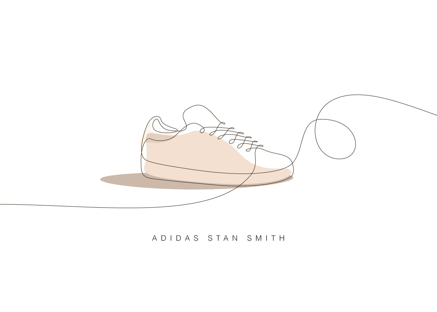 One line - Memorable sneakers
