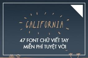 47 font chữ viết tay miễn phí tuyệt vời