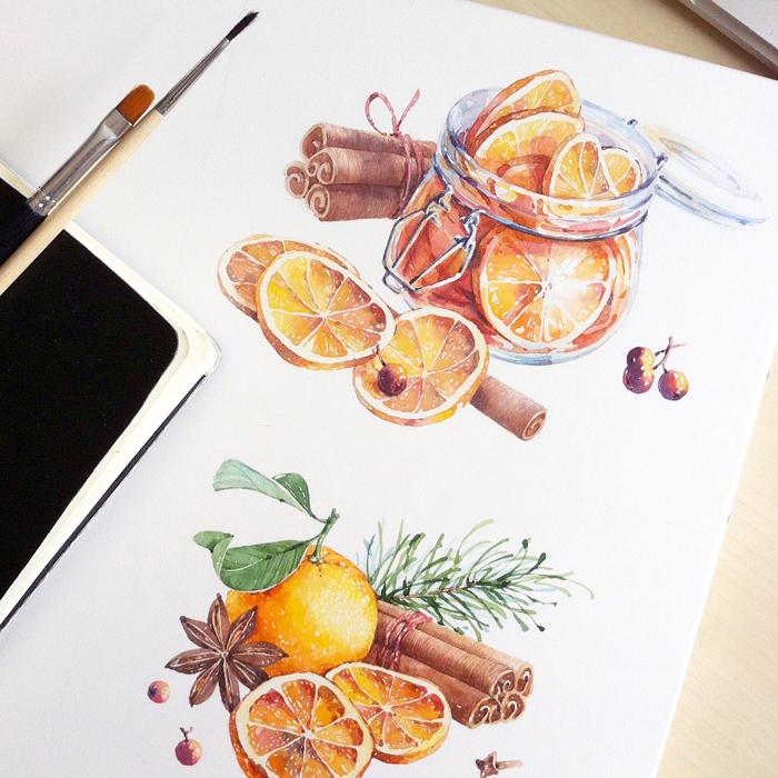 RGB.vn_Dried oranges and cinnamon - Natalia Tyulkina