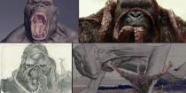 Tạo hình CG của những quái thú khổng lồ trên đảo Đầu Lâu trong Kong: Skull Island 2017