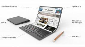 Lenovo trình diễn concept máy tính có thể uốn cong