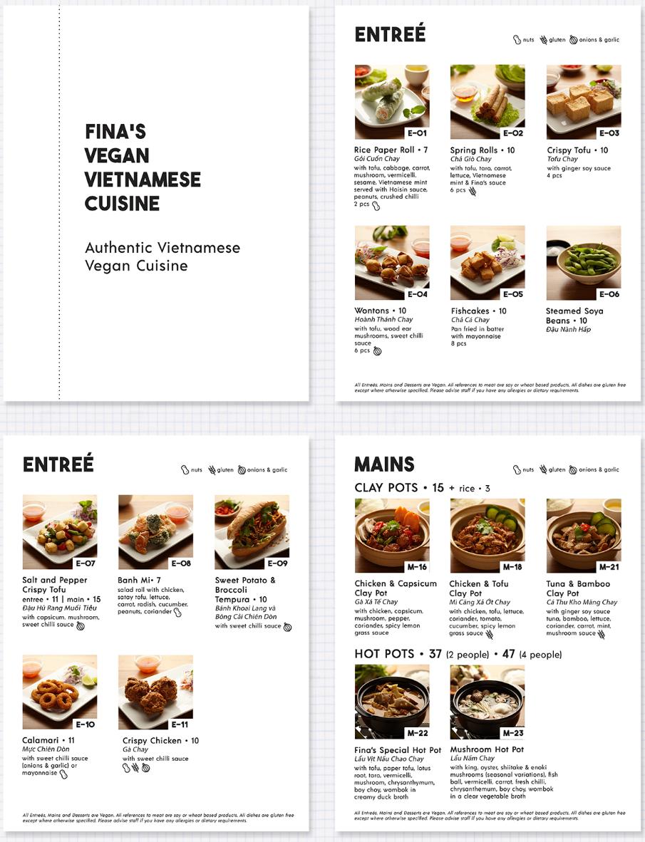 Một thiết kế menu của sonics.lab